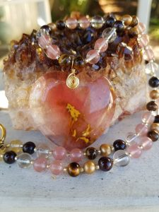 Medicine Heart Creations Pink Heart Necklace
